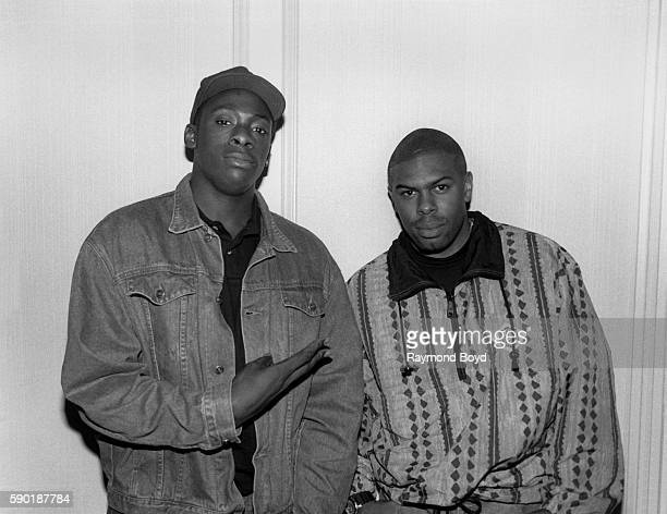 Rappers and producers Pete Rock and C L Smooth poses for photos at the Blackstone Hotel in Chicago Illinois in January 1991