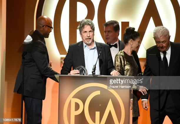 Producer Peter Farrelly accepts The Darryl F Zanuck Award for Outstanding Producer of Theatrical Motion Pictures for 'Green Book' onstage from Lauren...