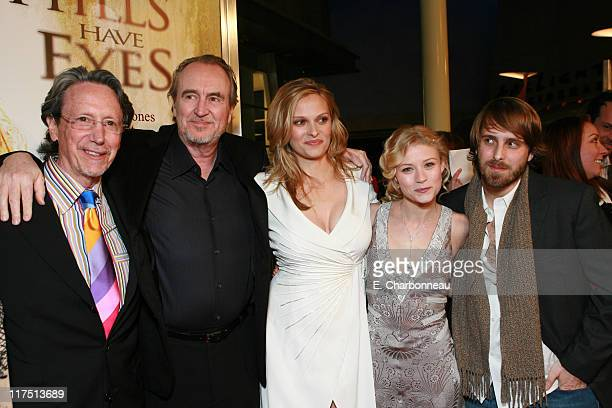 Producer Peter Locke Producer Wes Craven Vinessa Shaw Emilie de Ravin and Director Alexandre Aja