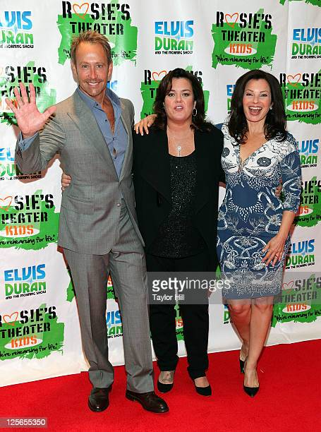 Producer Peter Marc Jacobson actress Rosie O'Donnell and Fran Drescher attend Rosie's Building Dreams for Kids Gala at The New York Marriott Marquis...