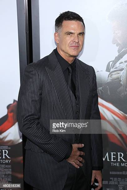 Producer Peter Morgan arrives at the American Sniper New York Premiere at Frederick P Rose Hall Jazz at Lincoln Center on December 15 2014 in New...