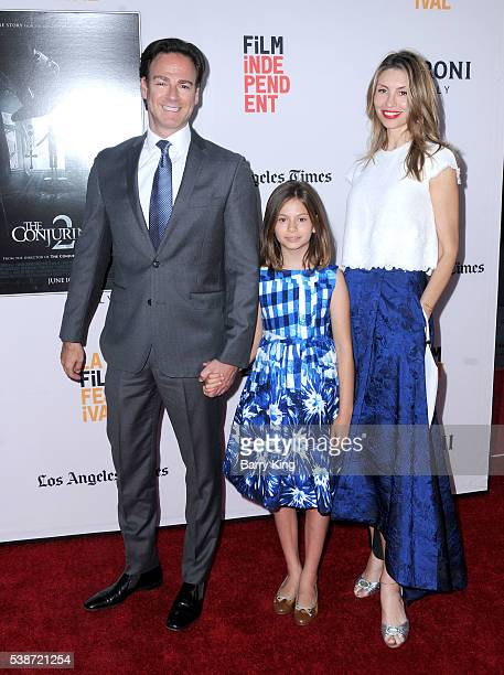 Producer Peter Safran Lou Lou Safran and wife Natalia Safran attend 2016 Los Angeles Film Festival 'The Conjuring 2' premiere at TCL Chinese Theatre...