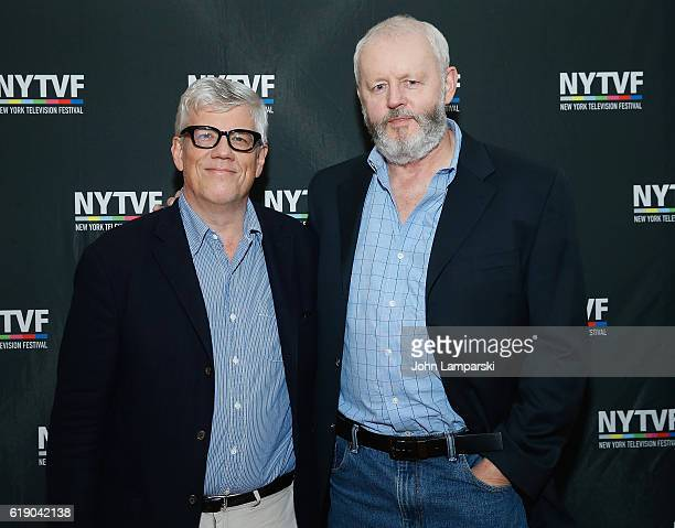 Producer Peter Tolan and David Morse attend Development Day Panels during the 12th Annual New York Television Festival at Helen Mills Theater on...