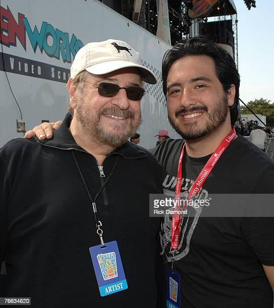 Producer Phil Ramone and his son engineer/producer BJ Ramone backstage at Farm Aid 2007 AT ICAHN Stadium on Randall's Island NY September 92007