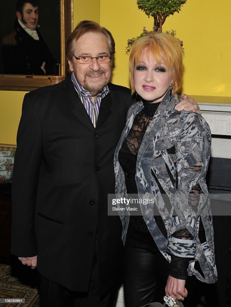 Producer Phil Ramone and singer Cyndi Lauper attend the Recording Academy New York Chapter's 53rd GRAMMY Award Nominees Reception at Gracie Mansion on January 20, 2011 in New York City.