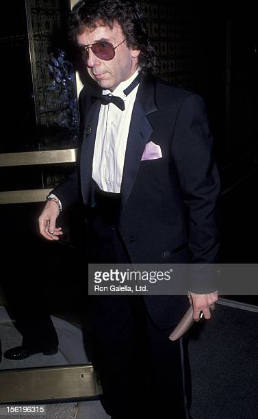 Producer Phil Spector attends the party for Rock N Roll Hall Of Fame Gala on January 17 1990 at Sting's home in New York City