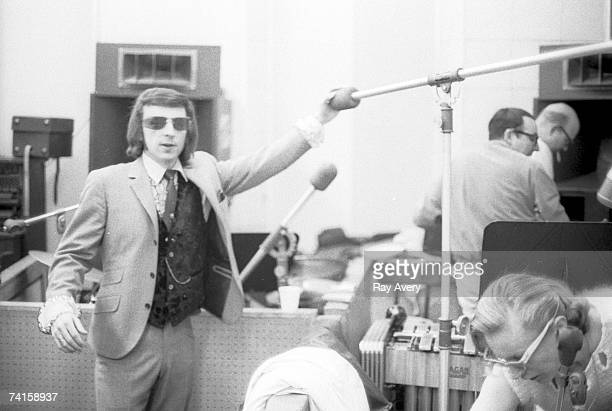 Producer Phil Spector during a recording session in Los Angeles at Gold Star Studios in 1966.