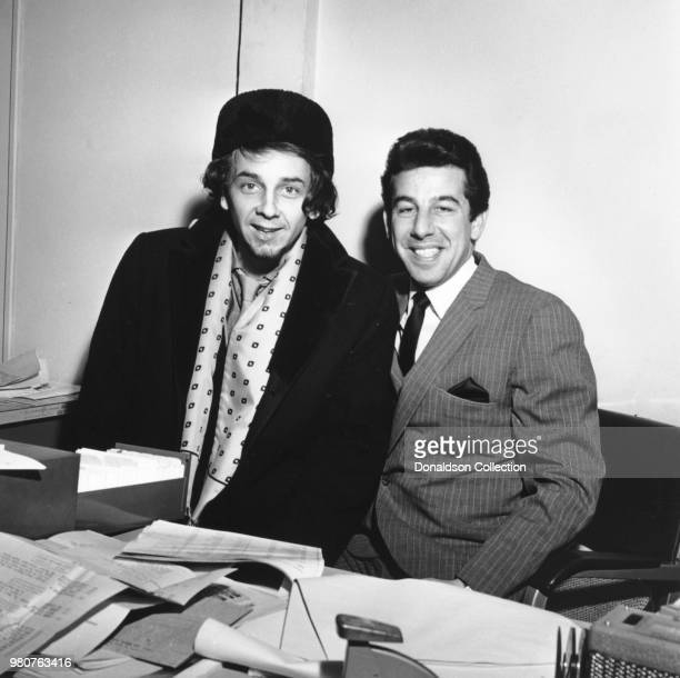 Producer Phil Spector poses for a portrait with musician Trini Lopez in circa 1966 in New York.