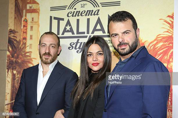 Producer Pierpaolo Vega actress Pina Turco and director/writer Edoardo Angelis attend a Conversation with Gianfranco Rosi and screening of Fire at...