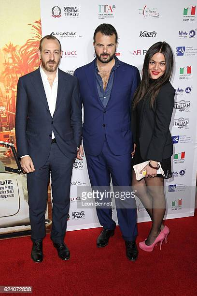 Producer Pierpaolo Verga Director Edoardo De Angelis and actor Pina Turco arrive at A Conversation with Gianfranco Rosi and Screening of 'Fire At...