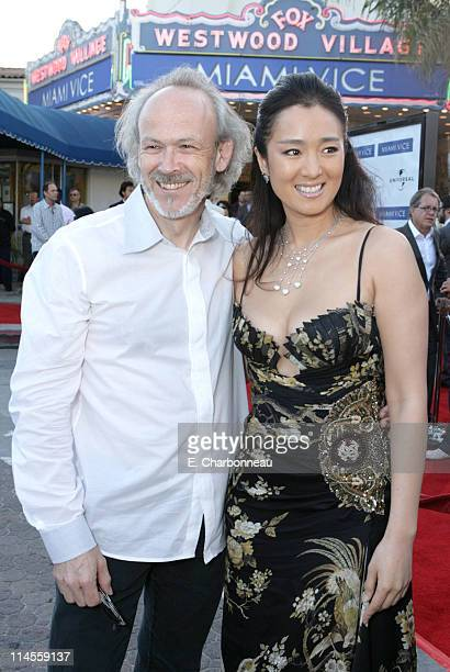 Producer Pieter Jan Brugge and Gong Li during Universal Pictures Presents the World Premiere of Miami Vice at Mann Village Theater in Westwood...