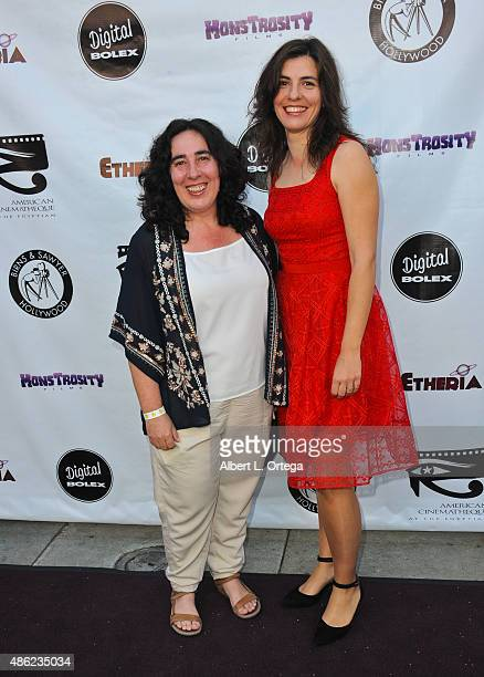 Producer Pilar Sanchez Diaz and director Arantxa Echevarria arrive for the Etheria Film Night 2015 held at American Cinematheque's Egyptian Theatre...