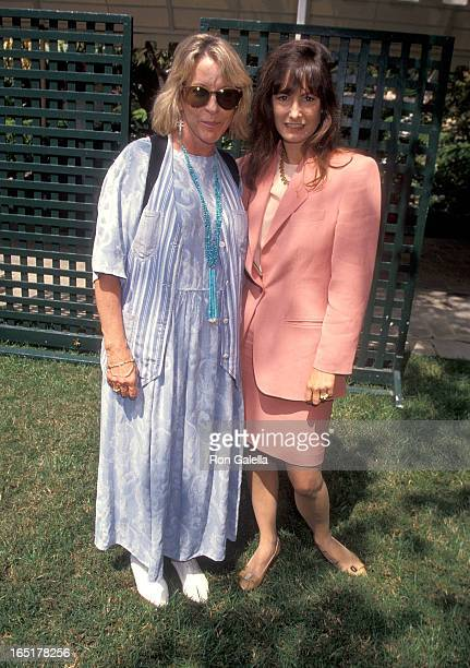 Producer Polly Platt and producer Gale Anne Hurd attend the First Annual Premiere Women in Hollywood Luncheon on September 14 1993 at the Hotel...