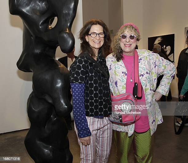 Producer Prudence Fenton and Musician-Artist Allee Willis attend the Herb Alpert Exhibition of Paintings and Sculpture at Bergamot Station on May 4,...