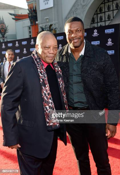 Producer Quincy Jones and actor Chris Tucker Tucker attend the 50th anniversary screening of In the Heat of the Night during the 2017 TCM Classic...