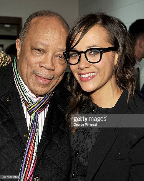 Producer Quincy Jones and actress Rashida Jones attend the 'Celeste And Jesse Forever' Premiere at the Eccles Center Theatre during the 2012 Sundance...