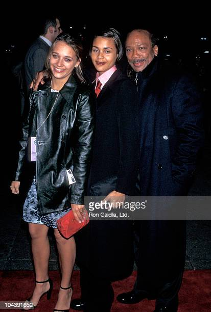 Producer Quincy Jones and daughters Rashida Jones and Kidada Jones attend Sony Records Grammy Awards Post Party on March 26 1997 at the Manhattan...