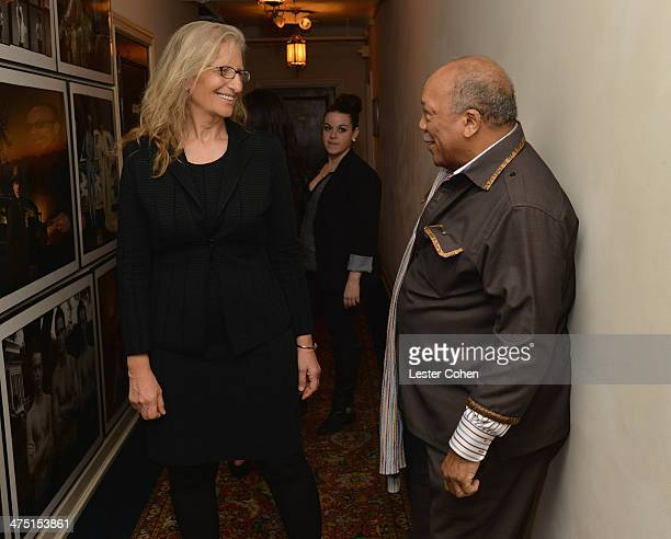 Producer Quincy Jones and photographer Annie Leibovitz attend The Annie Leibovitz SUMOSize Book Launch presented by Vanity Fair Leon Max and Benedikt...