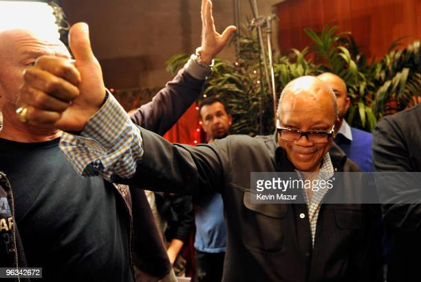 COVERAGE* Producer Quincy Jones at the We Are The World 25 Years for Haiti recording session held at Jim Henson Studios on February 1 2010 in...