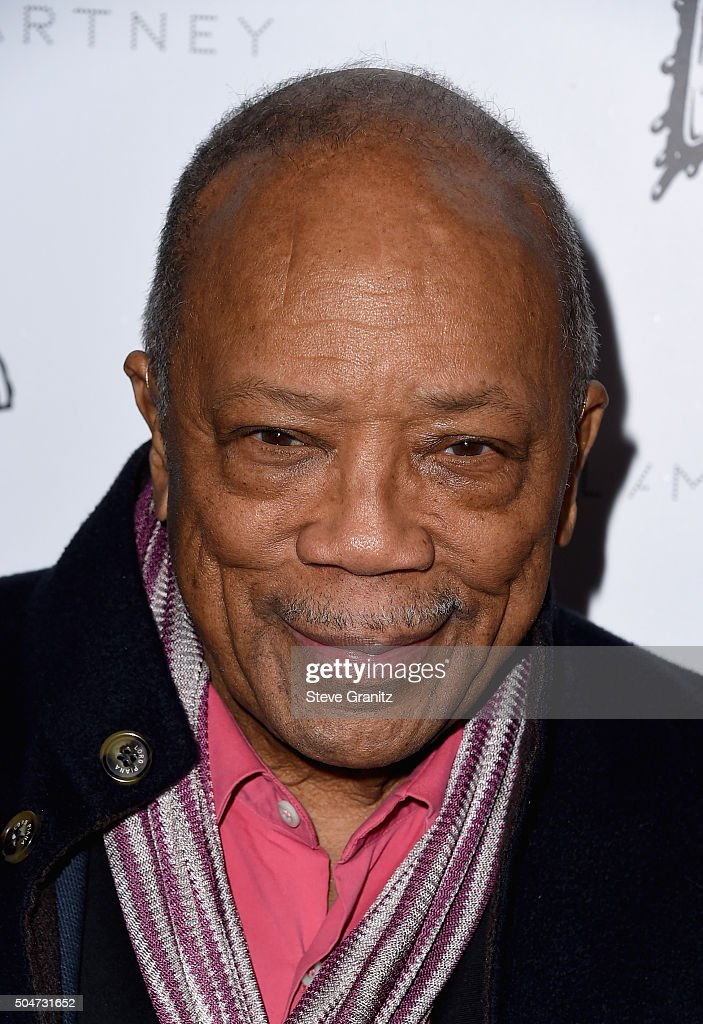 Producer Quincy Jones attends Stella McCartney Autumn 2016 Presentation at Amoeba Music on January 12, 2016 in Los Angeles, California.