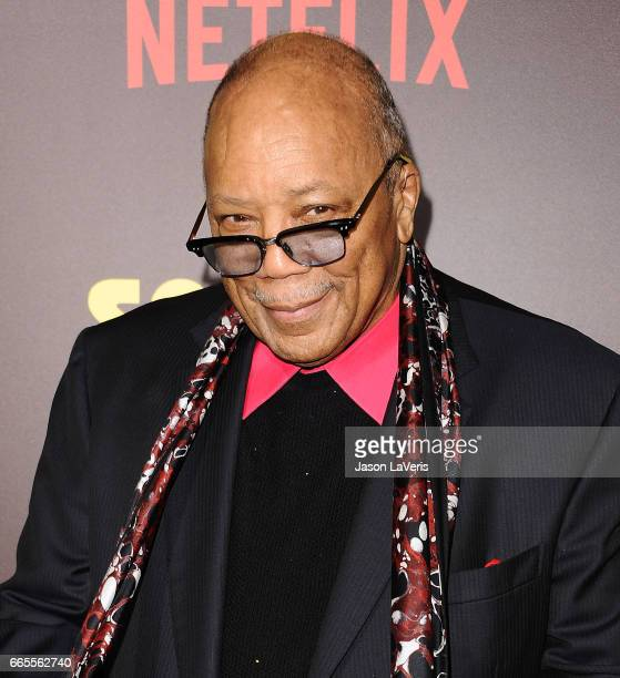 Producer Quincy Jones attends the premiere of Sandy Wexler at ArcLight Cinemas Cinerama Dome on April 6 2017 in Hollywood California