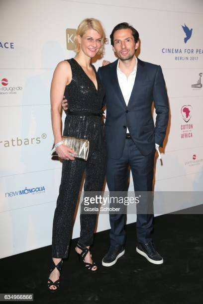 Producer Quirin Berg and his girlfriend Natascha Gruen during the reception for the Cinema for Peace Foundation at China Club during the 67th...