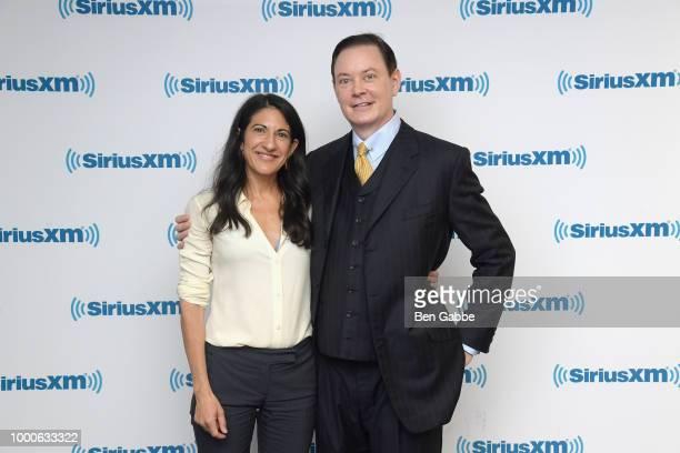 TV producer Rachel Dretzin and writer Andrew Solomon visit SiriusXM Studios on July 17 2018 in New York City