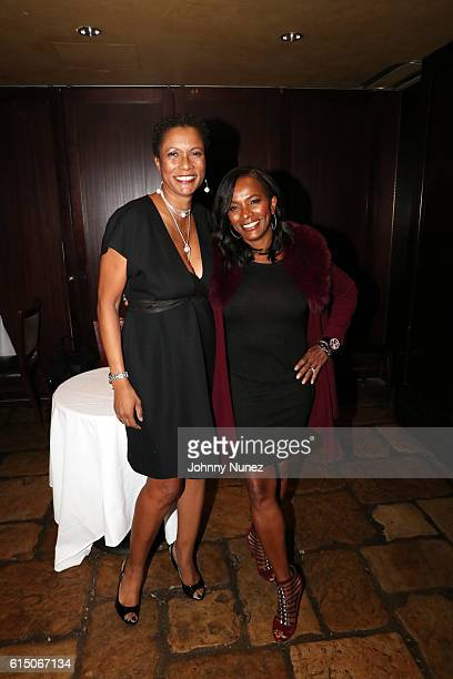 Producer Rachel Frazier Johnson and actress Vanessa Bell Calloway attend the LFZ Partnership Dinner at Del Frisco's on October 16 2016 in New York...