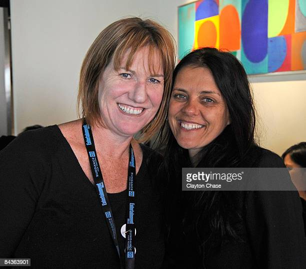 Producer Rachel Jean and Director/producer Katie Wolfe attend the Native Forum Brunch during the 2009 Sundance Film Festival on January 19 2009 in...