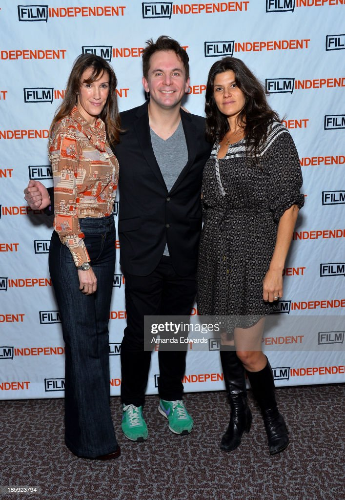 Producer Rachel Winter, HitFix.com Co-Founder and Editor-In-Chief Gregory Ellwood and producer Robbie Brenner attend the Film Independent Forum Screening and Q&A of 'Dallas Buyers Club' at the DGA Theater on October 25, 2013 in Los Angeles, California.