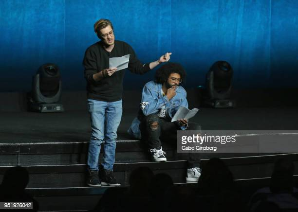 Producer Rafael Casal and actor/producer Daveed Diggs peform during CinemaCon 2018 Lionsgate Invites You to An Exclusive Presentation Highlighting...