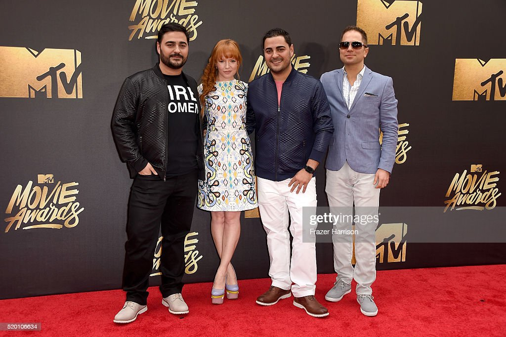 Producer Rafael Francisco, actress Stef Dawson, producer Gabriel Francisco and director Jeremy Profe attend the 2016 MTV Movie Awards at Warner Bros. Studios on April 9, 2016 in Burbank, California. MTV Movie Awards airs April 10, 2016 at 8pm ET/PT.