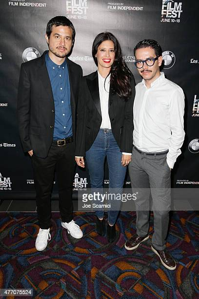 Producer Rafael Ley actress Angie Cepeda and director Manolo Caro attend the Elvira I'd Give You My Life but I'm Using It screening during the 2015...