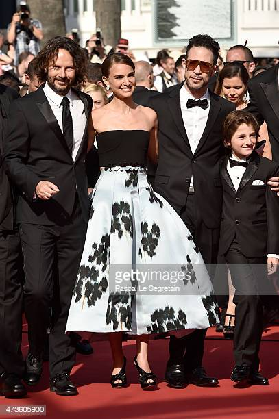Producer Ram Bergman director Natalie Portman actor Gilad Kahana and actor Amir Tessler attend the Premiere of 'A Tale Of Love And Darkness' during...