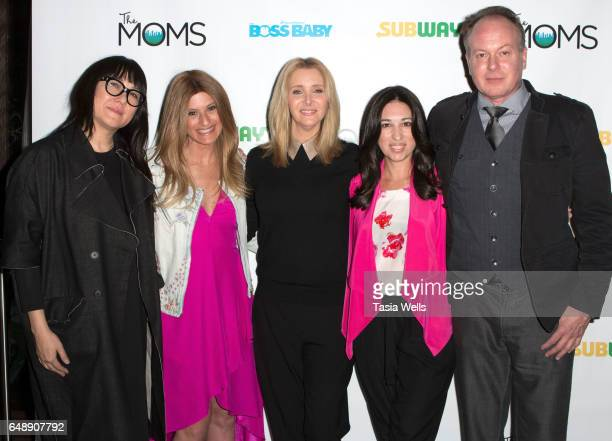 Producer Ramsey Ann Naito Denise Alberts actress Lisa Kudrow Melissa Gerstein and director Tom McGrath attend The Moms and Subway Restaurant host a...