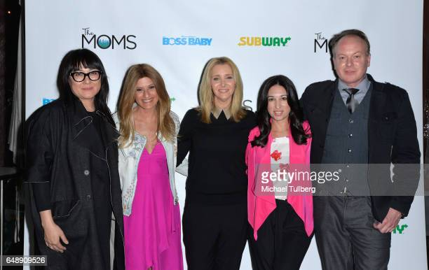Producer Ramsey Ann Naito MOMs cofounder Denise Albert actress Lisa Kudrow MOMs cofounder Melissa Musen Gerstein and director Tom McGrath attend a...