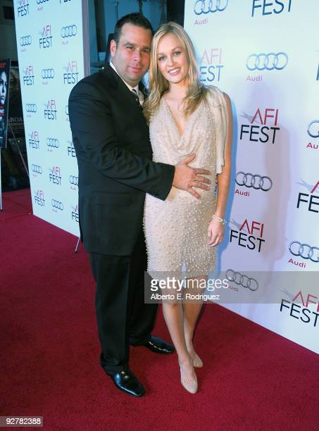 Producer Randall Emmett and actress Ambyr Childers arrive at the AFI Fest Screening of 'Bad Lieutenant Port of Call New Orleans' at Grauman's Chinese...