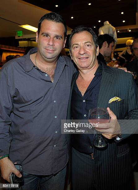 Producer Randall Emmett and Alec Gores attend the opening of Arcade boutique featuring an appearance by designer Alexis Mabille on October 23 2008 in...