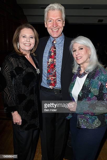 Producer Randie Levine-Miller, Tony Sheldon and Jamie de Roy attend Broadway & Cabaret Community SaluteThe Actors' Temple at The Actors Temple on...