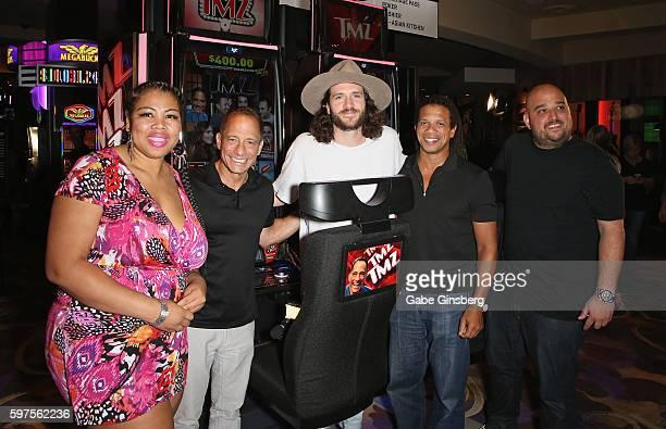 TMZ Producer Raquel Harper TMZ Founder and Executive Producer Harvey Levin TMZ staff member Charlie Cotton TMZ Producers Charles Latibeaudiere and...