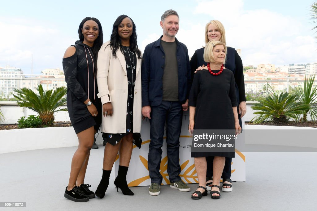 Producer Rayah Houston, producer Pat Houston, director Kevin Macdonald, producer Lisa Erspamer and producer Nicole David attend the photocall for the 'Whitney' during the 71st annual Cannes Film Festival at Palais des Festivals on May 17, 2018 in Cannes, France.