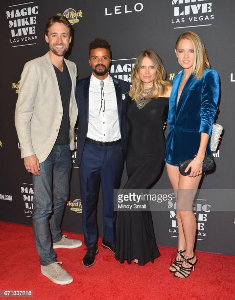 Producer Reid Carolin actor Eka Darville Leela Darville and actress Cody Horn attend the grand opening of Magic Mike Live Las Vegas at the Hard Rock...