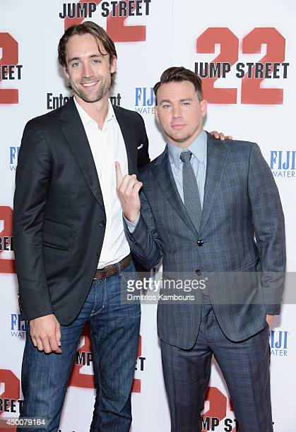 Producer Reid Carolin and actor Channing Tatum attend the New York screening of 22 Jump Street at AMC Lincoln Square Theater on June 4 2014 in New...