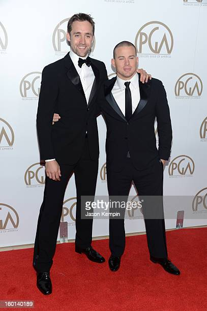 Producer Reid Carolin and Channing Tatum arrive at the 24th Annual Producers Guild Awards held at The Beverly Hilton Hotel on January 26 2013 in...