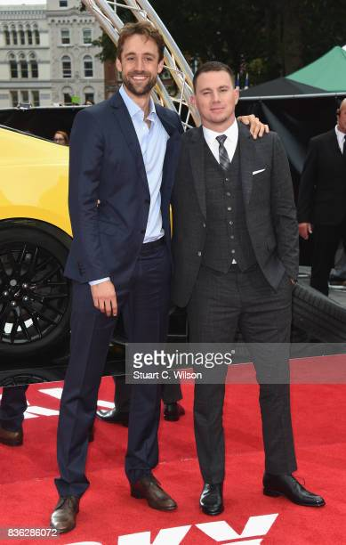 Producer Reid Carolin and Channing Tatum arriving at the 'Logan Lucky' UK premiere held at Vue West End on August 21 2017 in London England