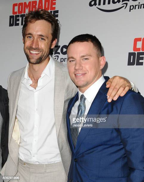 Producer Reid Carolin and Channing Tatum attend the premiere of Comrade Detective at ArcLight Hollywood on August 3 2017 in Hollywood California