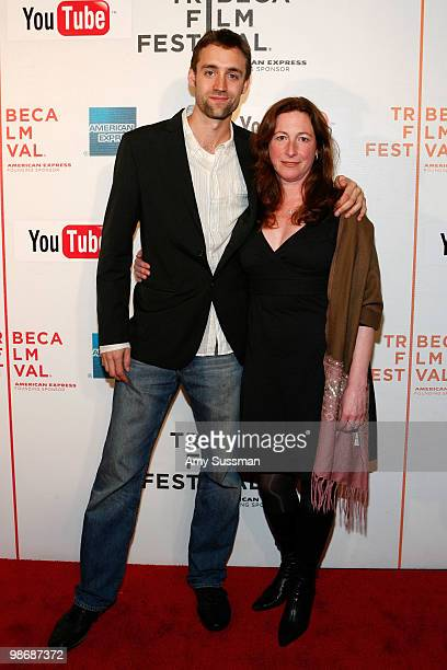 "Producer Reid Carolin and director Deborah Scranton attend the premiere Of ""Earth Made Of Glass"" during the 2010 Tribeca Film Festival at the Tribeca..."