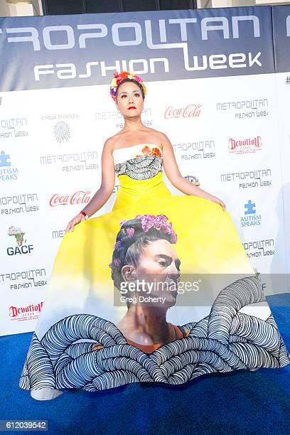 Producer Reporter for Despierta América Nitzia Chama arrives at the Metropolitan Fashion Week 2016 Closing Gala And Fashion Awards at Warner Bros...