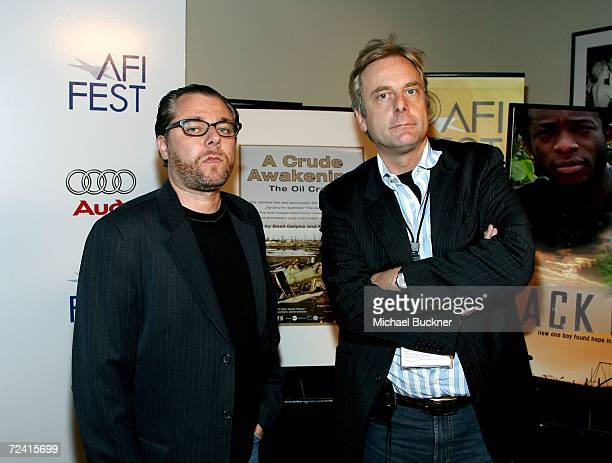 Producer Reto Caduff and producer/director Basil Gelpke arrive at the screening of A Crude Awakening The Oilcrash during AFI FEST 2006 presented by...