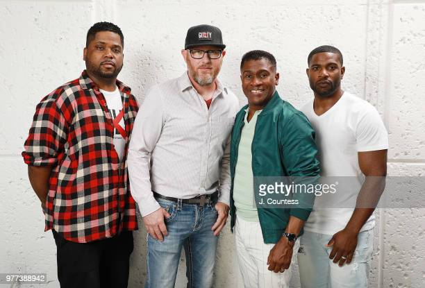 Producer Rhyan LaMarr producer Kevin Mullens producer Bishop Eric Garnes and Jimmy Maddox pose for a portrait during the 22nd Annual American Black...